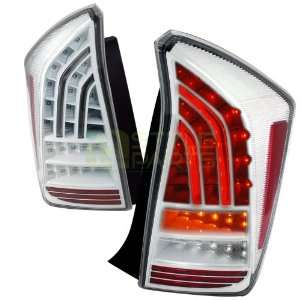 Toyota Prius Fiber Optic LED Tail Lights White   Full LED Automotive