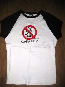GOODBYE KITTY juniors small David & Goliath brand anti Hello spoof