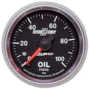 Auto Meter 3653 2 1/16 0 100 PSI Full Sweep Electric Oil