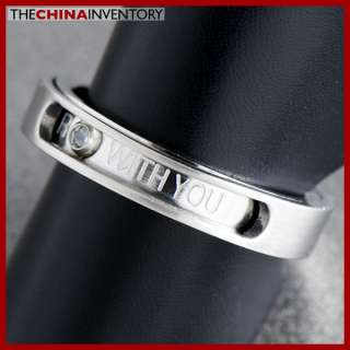 SIZE 5 WOMENS STAINLESS STEEL LOVE BAND RING R0704A