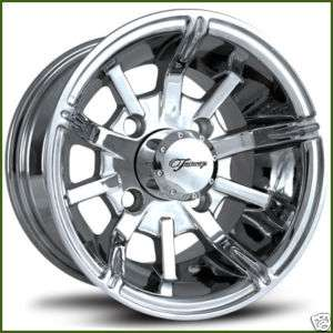 Fairway Alloys 10 x 7 Platinum Golf Cart Car Rim Wheel