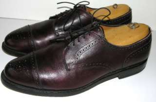 LKNW Burgundy ALLEN EDMONDS Lexington Captoe Oxford 13E