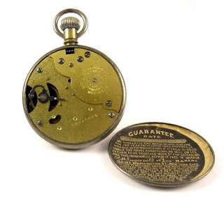 INGERSOLL Radiolite Gun Metal Case Pocket Dollar Watch 1919