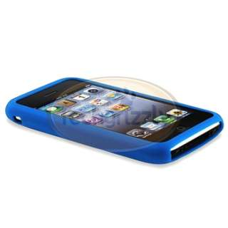 Blue Silicone Skin Case Cover for iPhone 1st 4G 8G 16G New