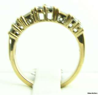 Diamond Right Hand Band   14k Solid Yellow Gold Estate Ring 5.0g
