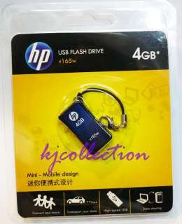 HP 4GB 4G USB Flash Memory Pen Drive Strap Mini v165w