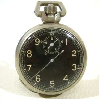 1941 WWII MILITARY AVIATOR BOMB TIMER POCKET STOP WATCH 15 jewel ELGIN