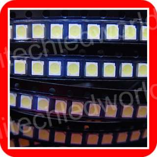 30p WHITE 3528 SMD SMT PLCC 2 LED LAMP LIGHT 2800mcd