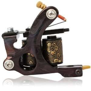 HB WGD046 8 Wrap Coils Iron Liner Tattoo Machine Black Beauty