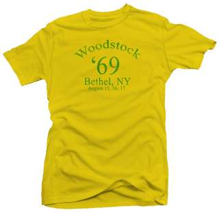 Woodstock 69 New York Music Festival 70s Retro T shirt