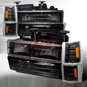 Chevrolet/ Chevy Gmc Pick Up   Black 8 Pc Head Lights/ Lamps & Corner