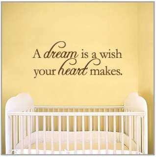 dream is a wish your heart makes   Wall Quote Decals Stickers