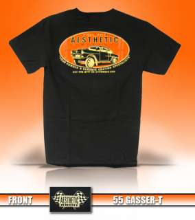 Finishers Mens 1955 55 Hot Rod Rat Rod Chevy Chevrolet Gasser T Shirt