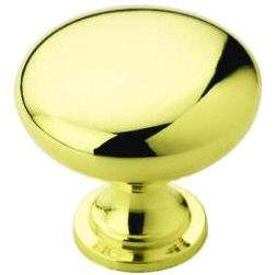 Cabinet Hardware Polished Brass Knob Knobs #5305 3