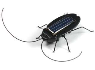Solar Power Energy Black Cockroach Bug Toy For Children Student Child