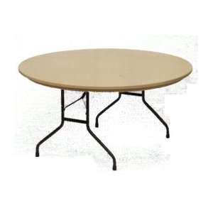 Molded Plastic Folding Table Round 60 Inch   Commercial Grade Tables