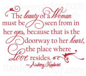 Audrey Hepburn Quote Livingroom Vinyl Wall Quote Decal