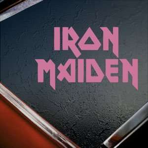 Iron Maiden Pink Decal Metal Rock Band Window Pink Sticker