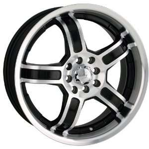 17x7 Sacchi S52 (252) (Black w/ Machined Face & Lip) Wheels/Rims 5x100