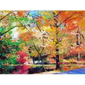 Autumn In The Park ~ Wooden Jigsaw Puzzle Toys & Games
