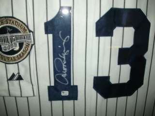 ALEX RODRIGUEZ FRAMED AUTOGRAPHED NEW YORK YANKEES INAUGURAL SEASON