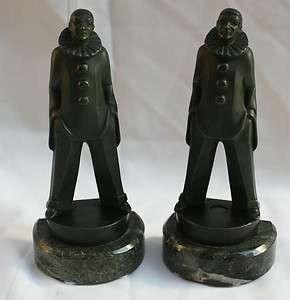 MAGNIFICENT FRENCH ART DECO PAIR OF BOOK ENDS BY MAX LE VERRIER