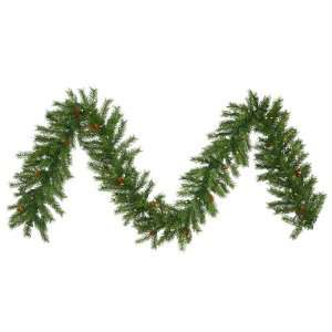 9 Pre Lit Redwood Pine Artificial Christmas Garland