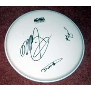 ZZ TOP autographed SIGNED Drumhead *PROOF