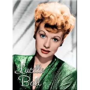I Love Lucy Lucille Ball Green Dress Magnet 29636LU