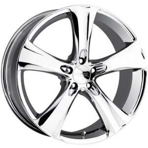 Boss 328 18x8 Chrome Wheel / Rim 5x100 with a 40mm Offset and a 72.64