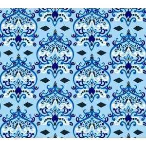 Caden Lane Luxe Blue Damask Changing Pad Cover Baby