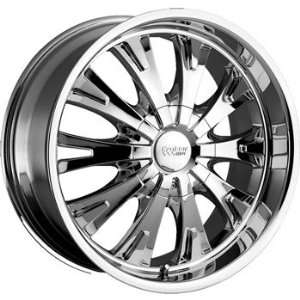 Cruiser Alloy Cake 17x7.5 Chrome Wheel / Rim 5x110 & 5x115 with a 38mm