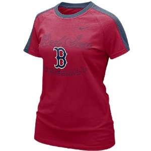 Nike Women?s Boston Red Sox Raglan T Shirt Sports