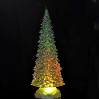 Crystal 5 Multi Color Crystal LED Flash Christmas Tree Lights XMAS