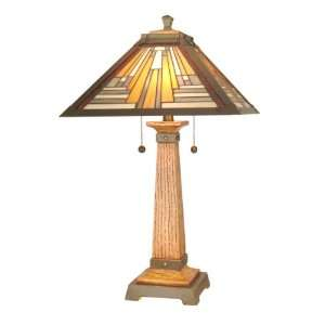 Dale Tiffany TT60287 Thunder Bay Table Lamp, Antique Brass