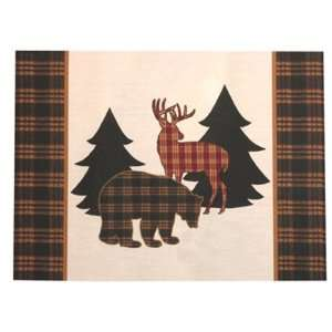 Lodge Bear Deer Indoor Outdoor Place Mats Climaweave Set