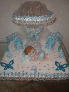 New Baby Boy Cake Topper Baby Shower Decoration