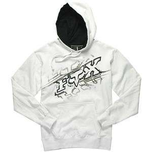 Fox Racing Reflection Hoody   Medium/White Automotive