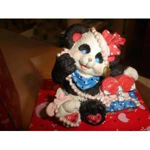 BEJEWELED PANDA BEAR FIGURINE NEW IN THE BOX Everything