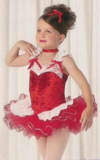 FIRST LOVE Ballet Tutu Dance Dress Ballet Costume Red Lace SZCXS,CS