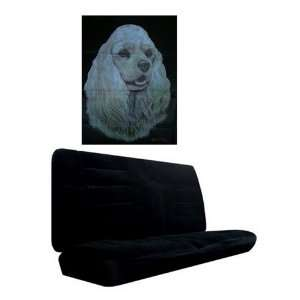 Car Truck SUV Cocker Spaniel Dog Print Rear Bench or Small