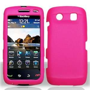 Blackberry 9850 Torch Hard Rubberized Hot Pink Case Cover