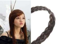 Korean Made Elastic Braids Wig Hair Head Band Black/Brown