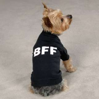 BFF TEE Best Friends Forever Dog T Shirt Clothes Black