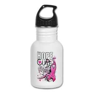 Kids Water Bottle Cancer Hope for a Cure   Pink Ribbon