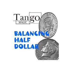 Balancing Coin Half Dollar Tango Money Magic Trick Toy