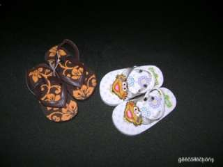 This STREET ZOE White Or OLD NAVY Orange Floral Baby Girl Flip Flop