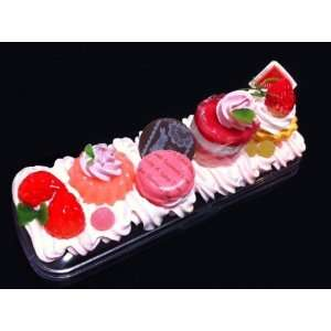 Sweet pencil case/Cakes with pink cream version/adorable fake food and