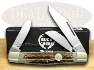 BUCK CREEK Genuine Deer Stag Stockman Pocket Knives