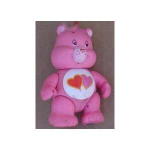 Care Bear Pink With (2) Hearts 3 1/2 Tall Everything
